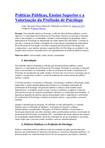 Políticas Públicas Ensino Superior e a Valorização da Profissão de Psicólogo