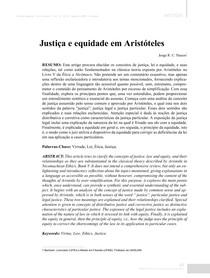 Artigo (Justiça e equidade- Aristóteles) FILOSOFIA