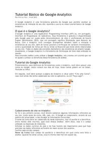 Tutorial Básico do Google Analytics