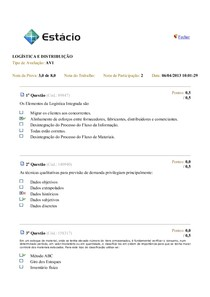 Av1 Logística e distribuição