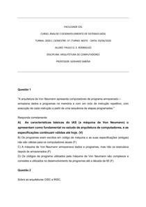 EXERCICIO 02 ARQUITETURA DE COMPUTADORES