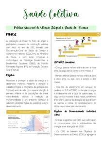 Saúde Coletiva- Política Nacional de Atenção Integral à Saúde da Criança