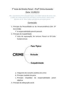 7a Aula de Direito Penal I