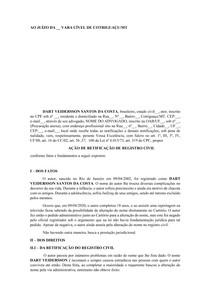 ATIVIDADE II - modelo Ação de Retificação de Registro Civil - ESTÁGIO - PRÁTICA CÍVEL