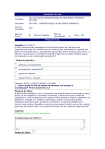 AV2 - Adm. de RH I - 5º período