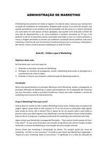 Administração de Marketing - Conteúdo Completo