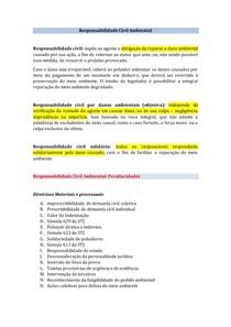 Responsabilidade civil e penal no Direito Ambiental