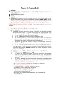 Resumo AV1 de Processo Civil I