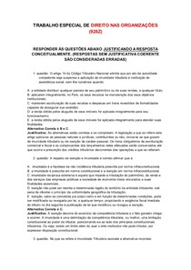 TRABALHO DE DIREITO NAS ORGANIZAÇÕES (928Z) Respondido