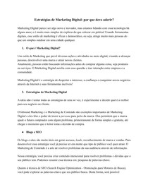 Estratégias de Marketing Digital- por que devo aderir-