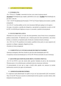 AÇÕES ESPECIAIS - AÇÃO DE INVENTÁRIO E PARTILHA