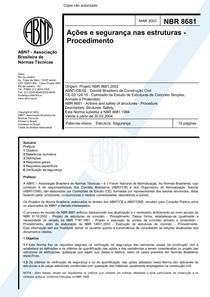 NBR 8681   Ações e segurança nas estruturas   Procedimento