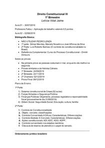 Apostila de Direito Constitucional III - 1 bimestre