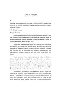 Modelo - Carta de Intenção Pós-graduação