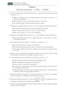 lista de aplicação   semana 5   funções trigonométricas, derivadas e inversas