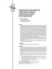 Tratamento conservador da sindrome do impacto subacromial estudo em 21 pacientes - Pac. 1
