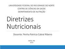 Diretrizes Nutricionais