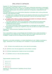 APOL 2  ETICA E D. CAPITALISTA