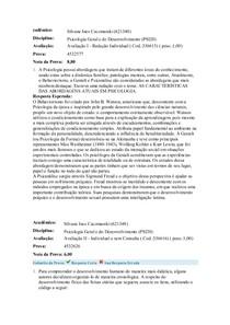 cadêmico psicologia geral e da educação redação