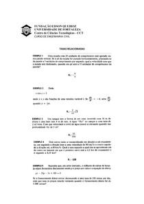 EXERCICIO TAXAS RELACIONADAS-CALCULO I