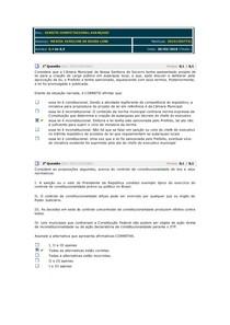 AVALIANDO APRENDIZADO DIREITO CONSTITUCIONAL AVANÇADO