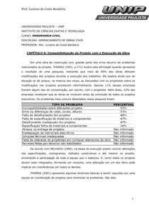 CAPÍTULO 6 Compatibilização do Projeto com a Execução da Obra2