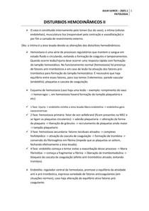 DISTURBIOS HEMODINÂMICOS II