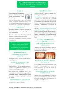 Resumo - Tratamento Periodontal de Suporte