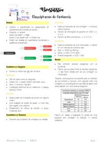 Classificação de Variáveis - Bioestística