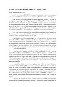 DECRESCIMENTO ECONÔMICO SOCIALMENTE SUSTENTÁVEL