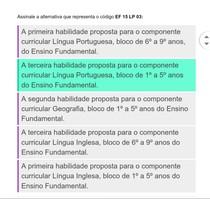 Assinale a alternativa que representa o código:EF 15 LP 03