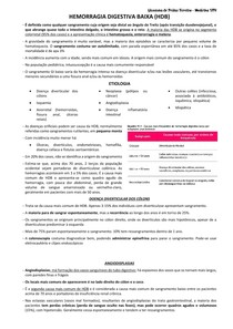 HEMORRAGIA DIGESTIVA BAIXA (HDB)