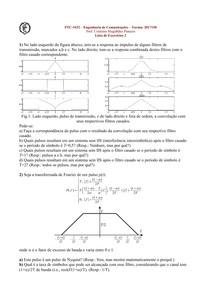 Teoria das Comunicações - Lista de Exercícios para P3 - POLI-USP - Engenharia Elétrica