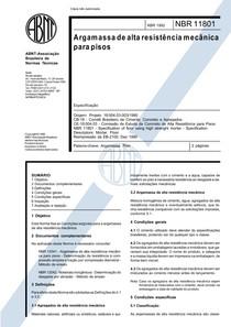 NBR 11801   1992   Argamassa de Alta Resistência Mecânica para Pisos