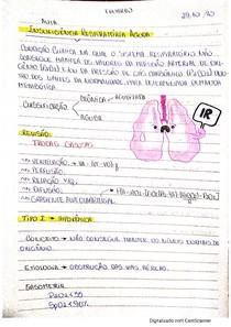 Insuficiência Respiratória - AULA + RESUMO