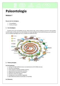 Paleontologia 7 - Resumo Eras Geológicas