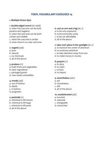 TOEFL VOCABULARY EXERCISES 19