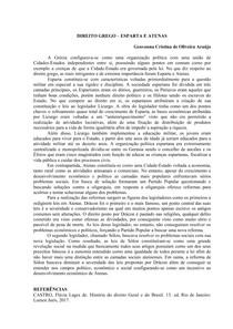 DIREITO GREGO - ESPARTA E ATENAS docx