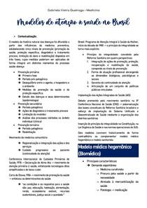 Modelos de atenção à saúde no Brasil