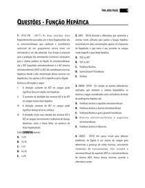 Questões - Função Hepática (Exercícios com gabarito)
