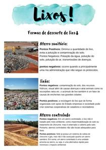 Os Lixos - as três formas de descarte do lixo! (trabalho)