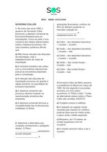 SOS História - Governo Collor
