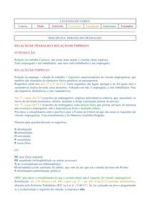 (Colorido) Caderno de Direito do Trabalho voltado a estudos do Exame de Ordem