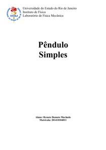 Relatório Pêndulo Simples
