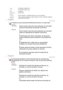 ECONOMIA E MERCADO   ATIVIDADE TELEAULA I