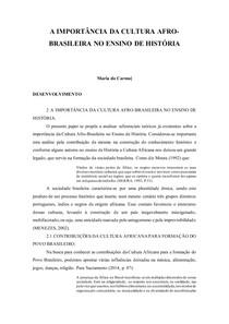 entrega_1 Projeto de Estágio - A IMPORTÂNCIA DA CULTURA AFRO-BRASILEIRA NO ENSINO DE HISTÓRIA