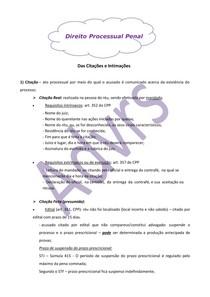 Citações e Intimações - Direito Processual Penal