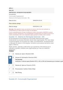 APOL 2 Comunicação Organizacional