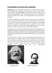 FUNDADORES DA SOCIOLOGIA MODERNA