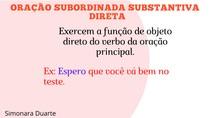 Oração subordinada objetiva direta